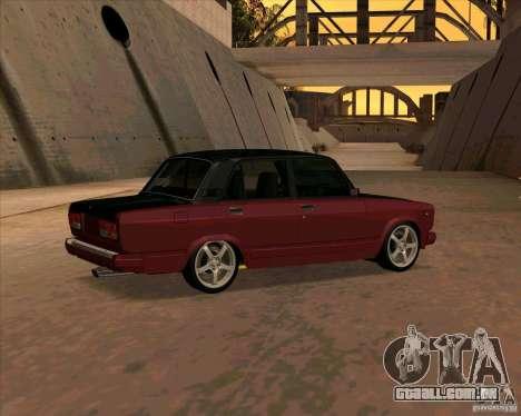Vaz-2107 para GTA San Andreas vista direita