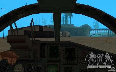 O Su-34 para GTA San Andreas vista traseira