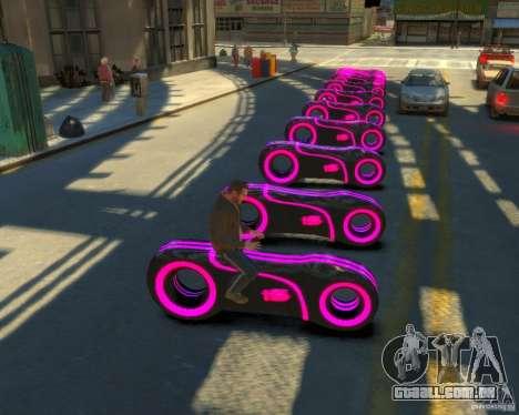 Motocicleta do trono (néon rosa) para GTA 4 traseira esquerda vista