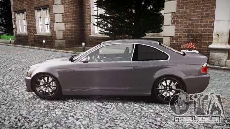 BMW 3 Series E46 v1.1 para GTA 4 esquerda vista