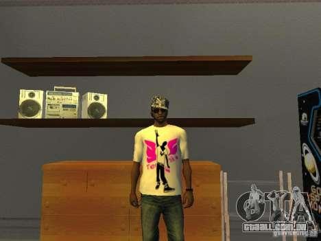 T-shirt tectônica para GTA San Andreas