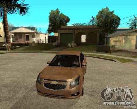 Chevrolet Cruze para GTA San Andreas vista traseira
