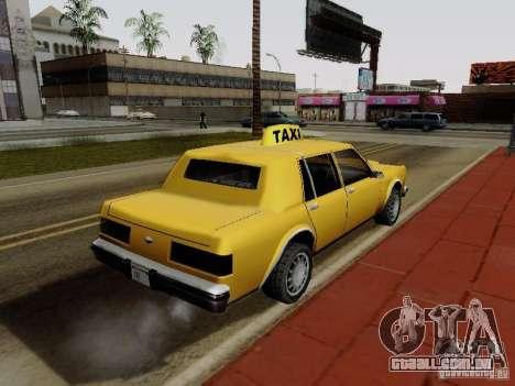 Greenwood Taxi para GTA San Andreas esquerda vista