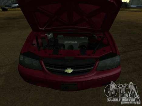 Chevrolet Impala 2003 para GTA San Andreas traseira esquerda vista