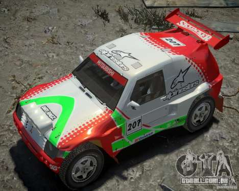 Mitsubishi Pajero Proto Dakar EK86 vinil 2 para GTA 4 vista inferior