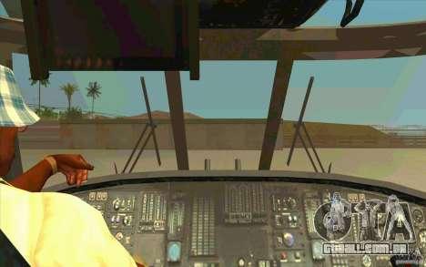 New Raindance para GTA San Andreas vista interior