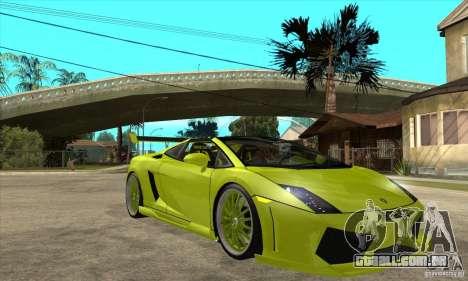 Lamborghini Gallardo LP560-4 Hamann para GTA San Andreas vista interior