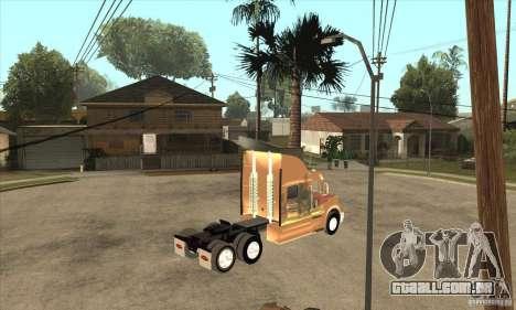 Peterbilt 387 pele 3 para GTA San Andreas vista traseira