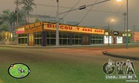 Loja ADIDAS para GTA San Andreas terceira tela