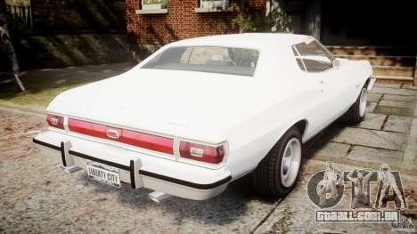 Ford Gran Torino 1975 v1.1 para GTA 4 traseira esquerda vista
