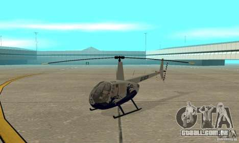 Robinson R44 Raven II NC 1.0 4 de pele para GTA San Andreas esquerda vista