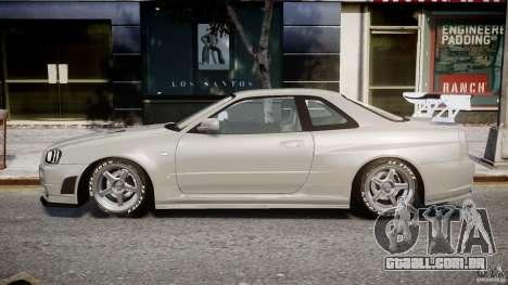 Nissan Skyline R34 Nismo para GTA 4 esquerda vista