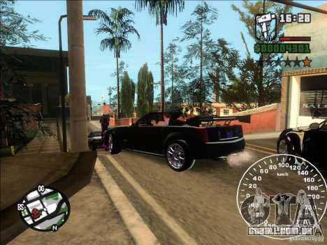 Cadillac XLR para GTA San Andreas traseira esquerda vista