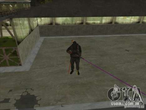 Weapon with laser para GTA San Andreas terceira tela