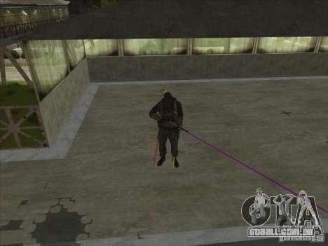 Weapon with laser para GTA San Andreas terceira tela