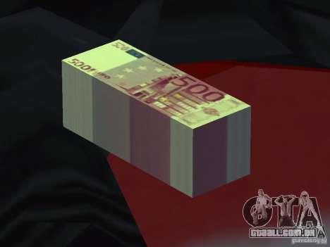 Euro money mod v 1.5 500 euros para GTA San Andreas