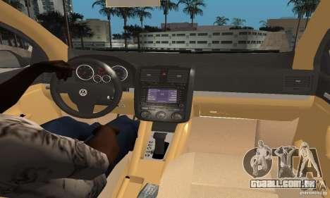 Volkswagen Golf 5 TDI para GTA San Andreas traseira esquerda vista
