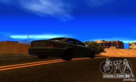 BMW M3 E46 TUNEABLE para GTA San Andreas traseira esquerda vista