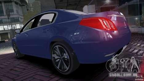 Peugeot 508 Final para GTA 4 vista direita