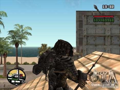 A lança de predador para GTA San Andreas terceira tela