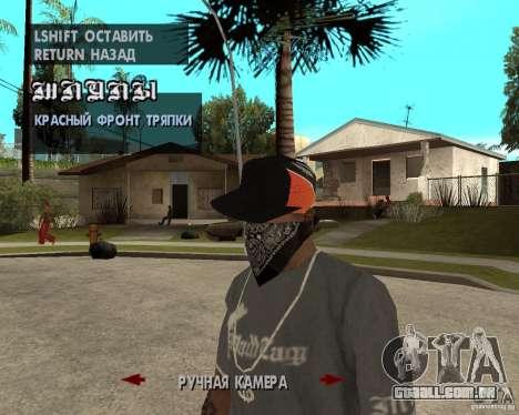 Hip-Hop caps para GTA San Andreas quinto tela