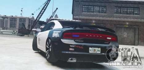 Dodge Charger 2011 Police para GTA 4 vista direita