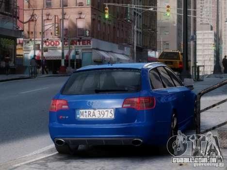 Audi RS6 Avant para GTA 4 traseira esquerda vista