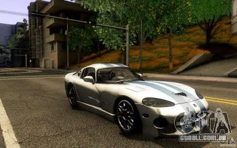 Dodge Viper GTS Coupe TT Black Revel para GTA San Andreas vista traseira