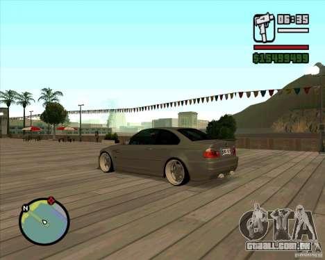 BMW E46 M3 Sport para GTA San Andreas esquerda vista