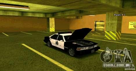 Sentinel Police LV para GTA San Andreas vista direita
