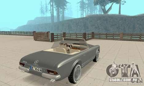 Mercedes-Benz 280SL (Matt) para GTA San Andreas esquerda vista