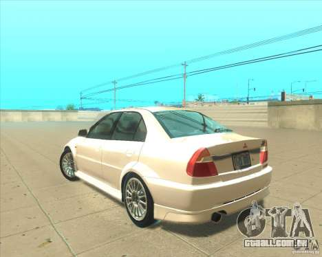 Mitsubishi Lancer Evolution VI 1999 Tunable para vista lateral GTA San Andreas