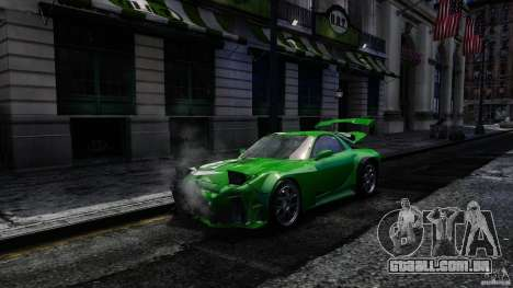 Mazda RX-7 Bushido para GTA 4 vista de volta
