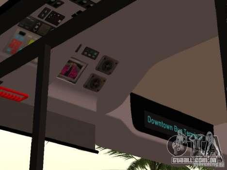 Volvo B7L para GTA San Andreas vista interior