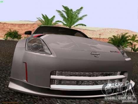 Nissan 350Z Nismo S-Tune para GTA San Andreas vista interior