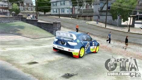 Subaru Impreza WRX STI Rallycross SHOEL Vinyl para GTA 4 traseira esquerda vista