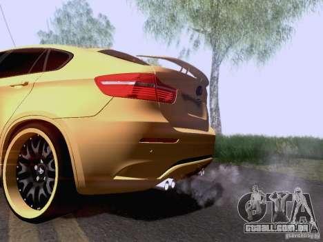 BMW X6M Hamann para GTA San Andreas traseira esquerda vista