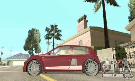Renault Clio Phase 2 para GTA San Andreas traseira esquerda vista