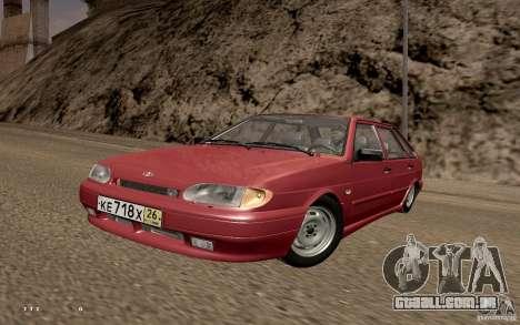 ВАЗ 2114 qualidade para GTA San Andreas traseira esquerda vista
