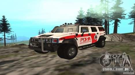 HUMMER H2 Amulance para GTA San Andreas