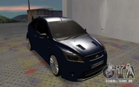 Ford Focus RS para GTA San Andreas esquerda vista