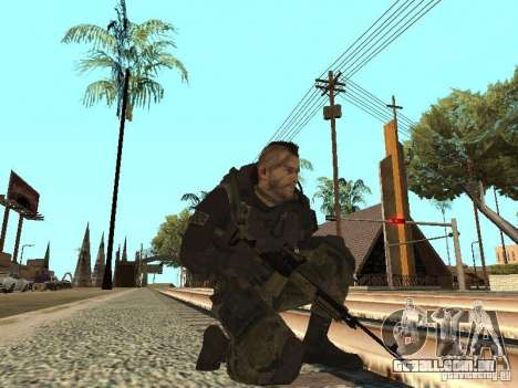 Captain MacTavish para GTA San Andreas quinto tela