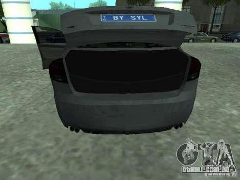 Holden Calais para GTA San Andreas vista traseira