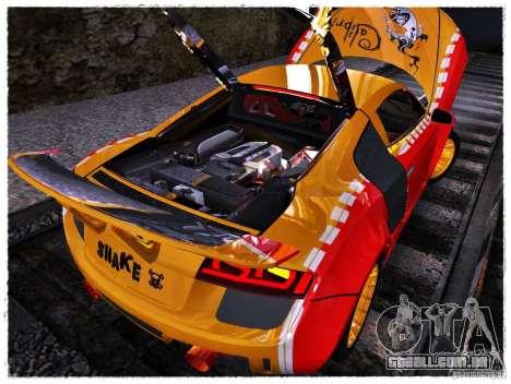 Audi R8 Calibri-Ace para GTA San Andreas vista traseira