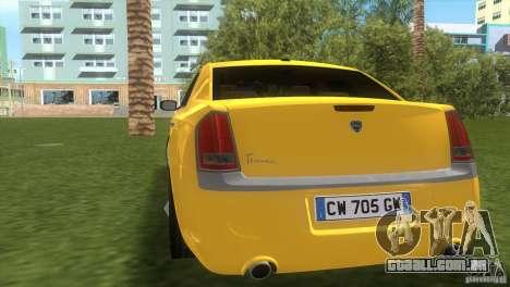 Lancia Nuova Thema para GTA Vice City vista direita
