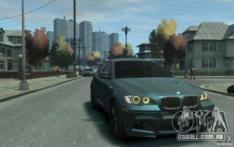 BMW X6-M 2010 para GTA 4 vista de volta