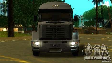 ZIL 5417 conforme SuperZil para GTA San Andreas esquerda vista