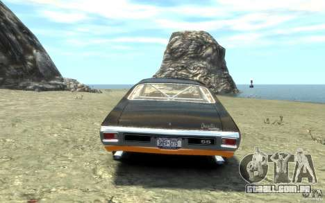 Chevrolet Chevelle SS 1970 para GTA 4 traseira esquerda vista