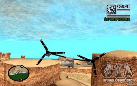 Bell V-22 Osprey para GTA San Andreas esquerda vista