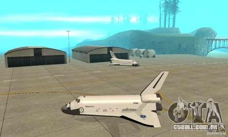 Space Shuttle Discovery para GTA San Andreas esquerda vista